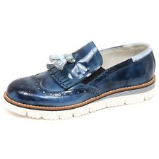 F1780 mocassino uomo blu/light blu EVEET scarpe loafer shoe man
