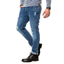 Jack & Jones Herren Jeans Slim Fit Stretch Distressed Denim Herrenhose Hose