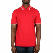 Fred Perry Twin Tipped Polo Shirt - England Red
