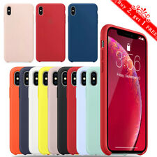 For iPhone 8 7 Plus XR XS Max Case Protective Liquid Silicone OEM Genuine Cover