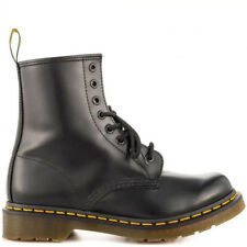 DR MARTENS ANFIBIO SCARPA BEATLES STIVALETTO NERO BORDò SMOOTH VERNICE CHELSEA