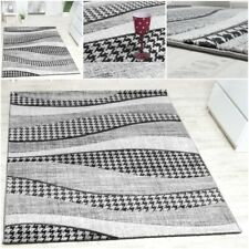 Grey White Wave Design Rug Living Room Hallway Runner Durable Top Quality Carpet