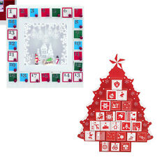 Christmas Workshop Wooden Tree or Frame Shaped Advent Calendar with Drawers Gift