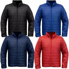 Mens Padded Quilted Lightweight Jacket Packa Bag Puffa Coat Size
