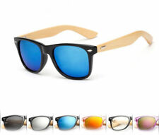 Mens Womens Fashion Bamboo Sunglasses Wooden Wood Retro Vintage Summer Glasses