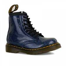 Dr Martens Infants 1460 Glitter Boots (Blue)
