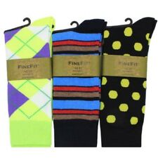 Par de Hombres 3 Diseño Calcetines Vestir Rayas Color Rombos Estampado Good Mix