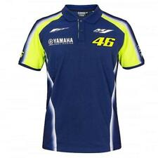VR46 Yamaha Racing Rossi Polo Shirt Blue Moto Gp Valentino Supermoto Men's