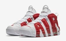 Nike Air More Uptempo Bianco Rosso White Red - NIKE UPTEMPO 100% ORIGINALE