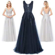 Evening Dress Prom Size Cocktail Formal Party Netting Long 8 Bridesmaid Gown