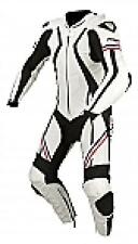 ARMR HARADA R LEATHER ONE PIECE MOTORCYCLE RACE SUIT WHITE / BLUE / RED