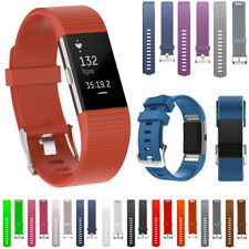 Silicone Bands Strap Wristband Bracelet Rubber Replacement For Fitbit Charge 2