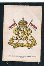 SILK REGIMENTAL COLOURS AND CRESTS MOST BDV  - CHOOSE SILK - see below