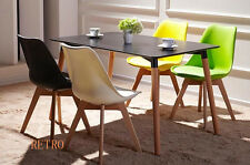 Dining table and 4 tulip chairs retro  DSW Eiffel/0