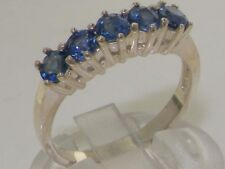 14ct White Gold Natural Sapphire Womens Eternity Ring - Sizes J to Z