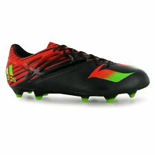 best value 6b30e ec05c adidas Messi 15.1 FG Firm Ground Football Boots Mens Blk Grn Soccer Cleats  Shoes