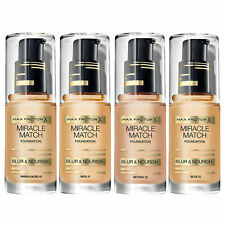 Max Factor Miracle Match Foundation Beige 55 Natural 50 Nude 47 Warm Almond 45