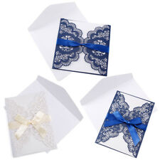 20pcs Wedding Party Invitations Cards with Laser Cut Floral and Love Birds