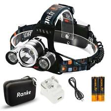 Super Bright Boruit RJ-5000 Head Torch 6000 Lumens 3 Cree XML-L2 LED Headlamp He