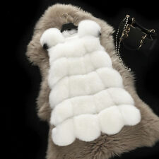Women Faux Furs Gilet Thicken Winter Warm Coat Jacket Waistcoat Outwear Vest BL