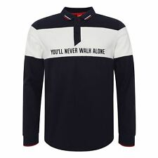 Liverpool FC Mens Football YNWA Block Long Sleeve Polo Shirt SS19 LFC Official