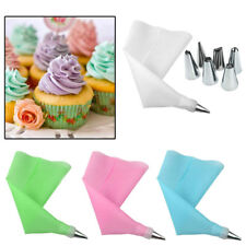 Stainless Silicone Icing Piping Cream Pastry Bag Nozzle Cake Decorating Tool