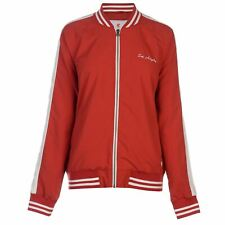 SoulCal Embroidered Bomber Jacket Womens Red Coats Outerwear