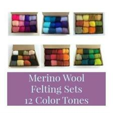 Needle Felting Wool, Merino Top Color Tone Sets