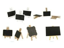 Mini Blackboard Chalkboard with Easel or Pegs. Different Qty and shapes