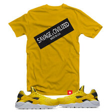 "Shirt to Match Air Huarache Tour Yellow, Size S-3XL, ""Savage & Civilized"""