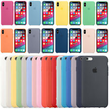 OEM Original Silicone/Leather Case For iPhone XS Max XR 7 8 Plus X Genuine Cover