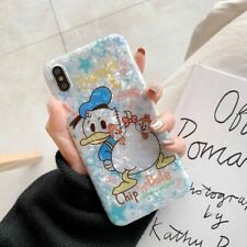 Cute Disney Donald duck Shell pattern soft Case cover for iPhone X XS Max 6 7 8+