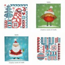Christmas Collection Cross Stitch Kit Reindeer Scandi Robin Santa Claus