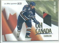 2003-04 ITG Used Signature Oh Canada Emblems #7 Eric Brewer Jersey Patch Oilers