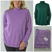 Lands End Womens Plus Size Soft Knit Polo Neck Turtle Jumper Sweater 2XL 3XL