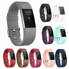 For OEM Fitbit Charge 2 HR Replacement Band Silicone Bracelet Watch Rate Fitness