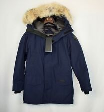 Men's Canada Goose Langford Fur-Trimmed Down Parka Black Label NWT New Blue L