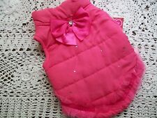CORAL Jeweled Ruffle Dog JACKET S Smoochie Pooch New pet petco Coat lined small