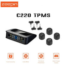 C220 Solar System TPMS Smart Car Powered Electronic Data Tire Pressure Monitorin