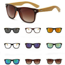 Mens Womens Bamboo Sunglasses Polarized Wooden Wood Retro Vintage Summer Glasses