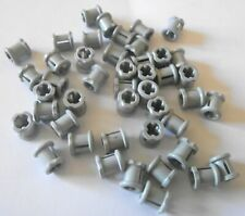 12x Technic Lego part no 4265c Technic Bush ½ Smooth in Old Grey