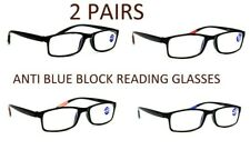 2 PAIRS Blue Light Blocking TR90 Anti Fatigue Computer Reading Glasses RG9ABL