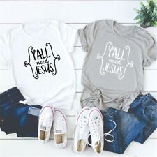 Y'ALL NEED JESUS T-shirt GRATEFUL THANKFUL BLESSED Tee Faith Jesus Christian Top