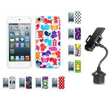 For Apple iPod Touch 5th 6th Gen TPU Design Case Phone Cover + Cup Mount
