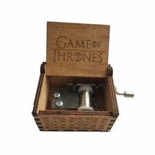 Game of Thrones Music Box Wooden Engraved Wood Main Theme GOT Winter is coming