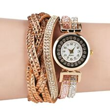 Chic Style Rhinestone Deco Women's Bracelet Watch Lady Quartz Wristwatches Gift
