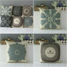 Boho Flower Cotton Square Pillow Case Throw Cushion Cover Home Sofa Car Decor