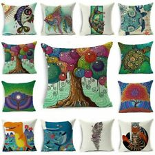 "Oil Painting Art 18""Cotton Linen Throw Pillow Case Sofa Cushion Cover Home Decor"