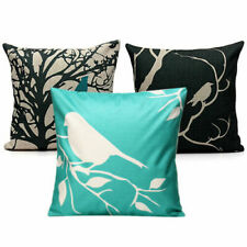 Home Decor Vintage Bird Linen Waist Throw Pillow Case Back Cushion Cover Square