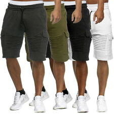 New Mens Cargo Casual Shorts Mid Waist Gym Workout Joggers Fitness Shorts Pants